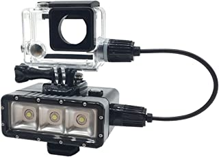 Underwater LED Superpower Night Diving Light 45M with 5200mah Power Bank Charging for GoPro Hero 3 3 4 6 5 4 Session Action Cameras