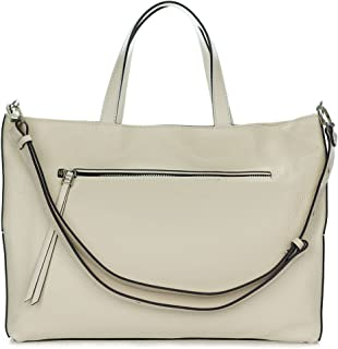 3163bb623ce Gianni Chiarini Italian Made Beige Pebbled Leather Large Carryall Tote Bag  with Pocket