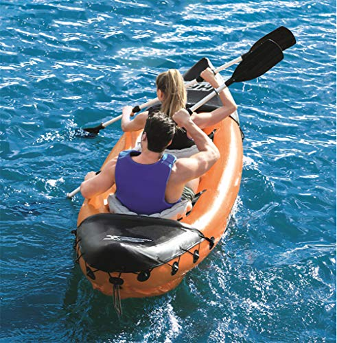 Inflatable Kayak,Set with Aluminum Oars and High Output Air Pump,2-Person California