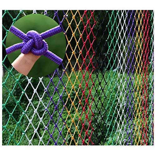 Seguridad Red Balcón Protección Color Mano-tejido de cuerda Red, Escalera de los niños Terraza de la terraza Neto de seguridad, Restaurante Bar Techo Decoración de techo Net Construction Protection Ne