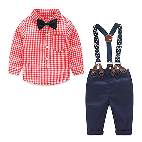 Baby Boy Clothes Outfits Sets Autumn Newborn Infant Clothing Gentleman Suit Suspender Trousers Top