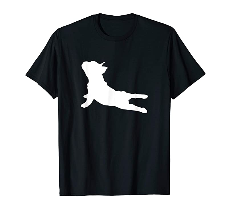 French Bulldog Yoga T-Shirt tapslsbw858529