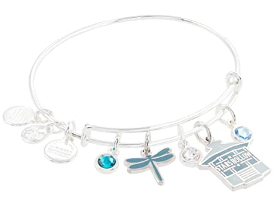 Alex and Ani Gilmore Girls, Stars Hollow Multi Charm Bangle Bracelet (Shiny Silver) Bracelet