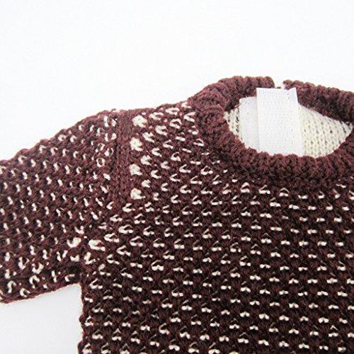 Sharplace Puppen Winter Bekleidung, Puppe Pullover & Minirock Hosen, Outfit Für 18 Zoll Puppe - 2