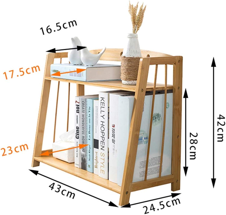 Desktop Bookshelf, Simple Student Bookcase Modern Desktop Decorative Storage Rack Strong and Sturdy-D