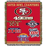 NORTHWEST NFL San Francisco 49ers Woven Tapestry Throw Blanket, 48' x 60', Commemorative