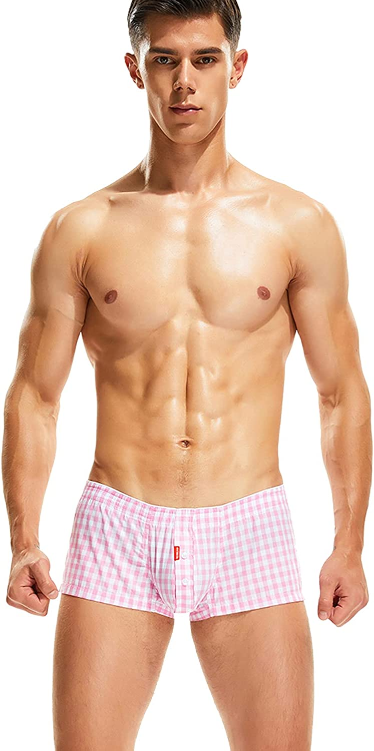 SEOBEAN Mens Sexy Low Rise Checkered Plaid Cheap Super beauty product restock quality top! SALE Start Fit Shor Boxer Trunks