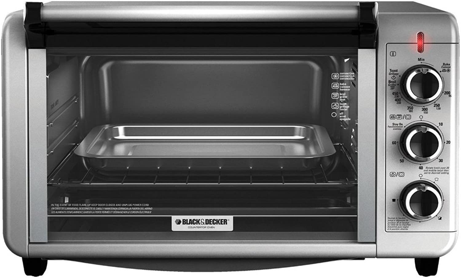 BLACK+DECKER TO3210SSD-CL 6-Slice Toaster Oven 220-240 Volts 50 60Hz Export Only Medium Silver