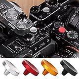 Salinr 4色セット ソフトシャッターボタン レリーズボタン 10mm 10ミリ 各社カメラ対応 X100 X100 X10 X20 X-E1 XT10 XT20 XE2S X100Fなどカメラ用 凸 凹 凸凹 レッド ブラック ゴールド シルバー 赤 黒 金 銀 セット