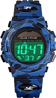 Kids Solar Watches Digital Outdoor Sport Waterproof...
