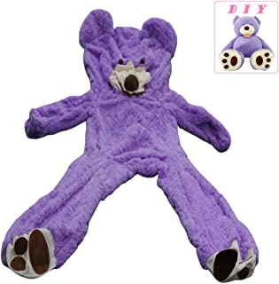 Life Size Huge Plush Teddy Bear Unstuffed Soft Giant Animal Toy (79 inch/ 6.6 foot), DIY Purple Bear for Valentine's Day Birthday Gifts, Only Cover, Sealing with the Zipper at Shell's Back