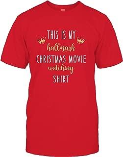 This is My Hallmark Christmas Movies Watching Sweatshirt Hoodie Long Sleeve Sweater Baseball Pullover Tee Shirt