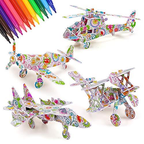 Arte y manualidades para niñas 6 7 8 años, juguete para niñas 6-8 años rompecabezas 3D juguetes para niños manualidades kits arte para niños 9-12 años regalos para niños de 6-12 años regalo cumpleaños