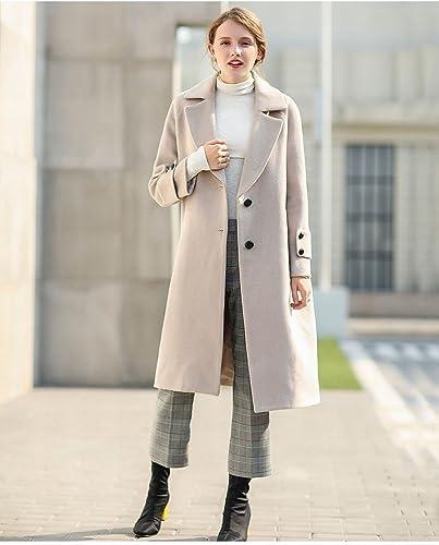WYF Manteau à Manches Longues d'hiver des Femmes à la Mode de Longue Section de Loisirs Il Manteau