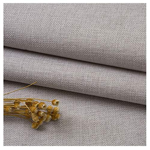 Linnetyg Linne- Och Bomullsmaterial Patchwork Tyg Crafting Fabric Diverse Lapptyg DIY Handgjorda Sytextilier.(Color:Krämfärg)