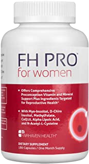 FH PRO for Women, Premium Fertility and Prenatal Multivitamin with Myo+D-Chiro Inositol, Supports Regular Cycles & Egg Qua...