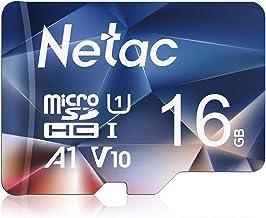 Netac Tarjeta de Memoria de 16GB, Tarjeta Memoria microSDXC(A1, U1, C10, V10, FHD, 600X) UHS-I Velocidad de Lectura hasta 90 MB/s, Tarjeta TF para Móvil, Cámara Deportiva, Switch, Gopro, Tableta