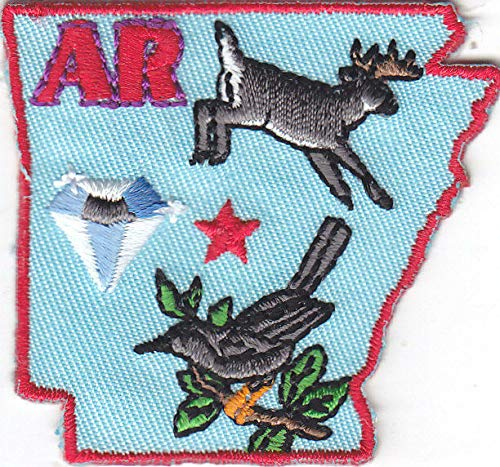 COLIBYOU ARKANSAS STATE SHAPE Iron On Patch Embroidered