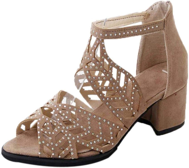 Women Bohemia Bling Sandals Vintage Platform Wedge High Heel Ankle Strappy Sandals Clearance Bridesmaid Party Slipper Flat T-Strap Hollow Slide Elegant Flower Beach shoes (US 6, Khkai)