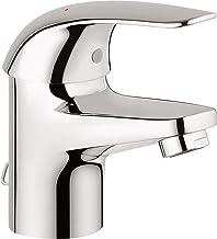 Grohe Euroeco -  Grifo lavabo, 35mm cadenilla, con conexiones flexibles, Tamaño S, acabado cromado( Ref. 32881000)