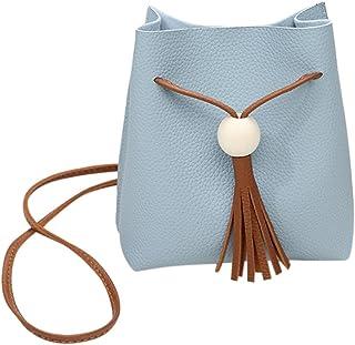 Wultia - Bags for WAMEN Fashion Women Tassels Bucket Bag Crossbody Bag Coin Phone Bolsa Feminina Blue