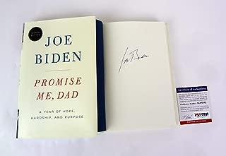Joe Biden Vice President Signed Autograph Promise Me, Dad 1st Edition Book PSA/DNA COA