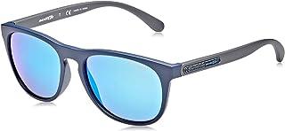 نظارات شمسية من ارنيت 56 للرجال، ازرق مات/ اخضر فاتح (0AN4245 252725 56 252725)