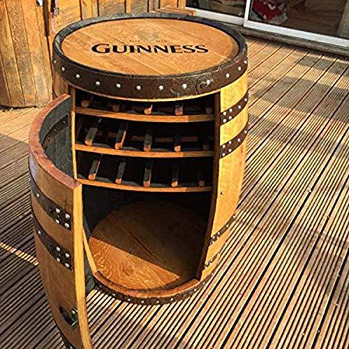 Cheeky Chicks Gabinete de bebidas de roble macizo Guinness Balmoral para whisky | Botellero