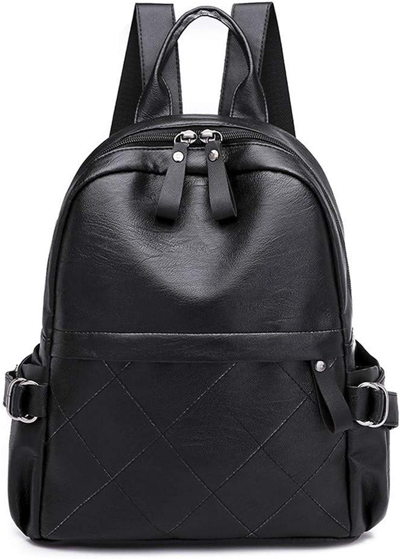 DYR Casual Backpack Lady Backpack Large pacity Travel Bag Soft leatheroulder Bag Outdoor Sports Bag Student Bag