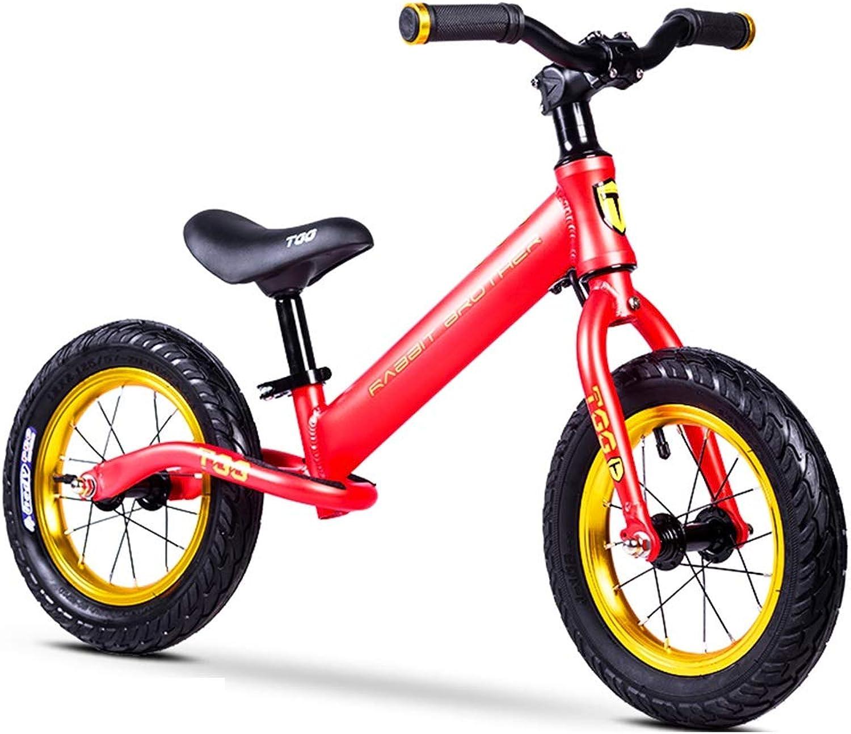 cómodo SSRS Equilibrio para para para Niños Coche 2-8 años de Edad, Scooter de bebé de aleación de Aluminio, Cochecito de Niño, Niño sin Pedal, Bicicleta, Cochero de 12 Pulgadas (Color   rojo )  mejor oferta