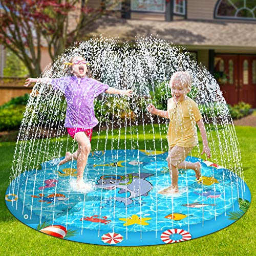 Perglad Splash Pad, 68'' Sprinkler for Kids Toddlers Outdoor Water Toys for 4-9 Year Old Boys Girls,...
