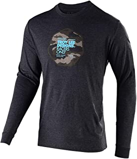 Troy Lee Designs Mens Long Sleeve Race Camo T-Shirt (Large, Charcoal Heather)