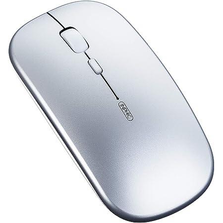 Ratón Bluetooth, Ratón inalámbrico Bluetooth Recargable silencioso de Tres Modos (BT5.0/ 4.0 + 2.4G inalámbrico), Ratón de Viaje portátil 1600DPI para computadora portátil, Android, Windows MacBook