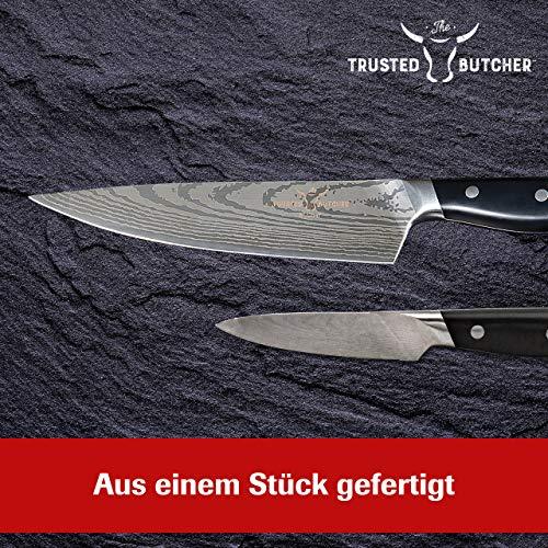 Mediashop Trusted Butcher Messer Set – hochwertiges Profi Kochmesser Set – ultrascharfe Klingen in Metzger-Qualität – inklusive Bratenthermometer – 4-TLG. | Versand Edition in neutraler Verpackung - 5