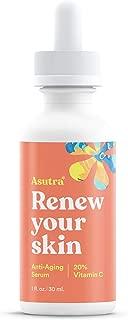 ASUTRA Anti-Aging 20% Vitamin C Serum, 1 fl oz | Brighten & Boost Collagen | Helps Fade Sun Spots, Hyperpigmentation, Appearance of Wrinkles | Ferulic & Hyaluronic Acid, Vitamin E, Aloe, Jojoba