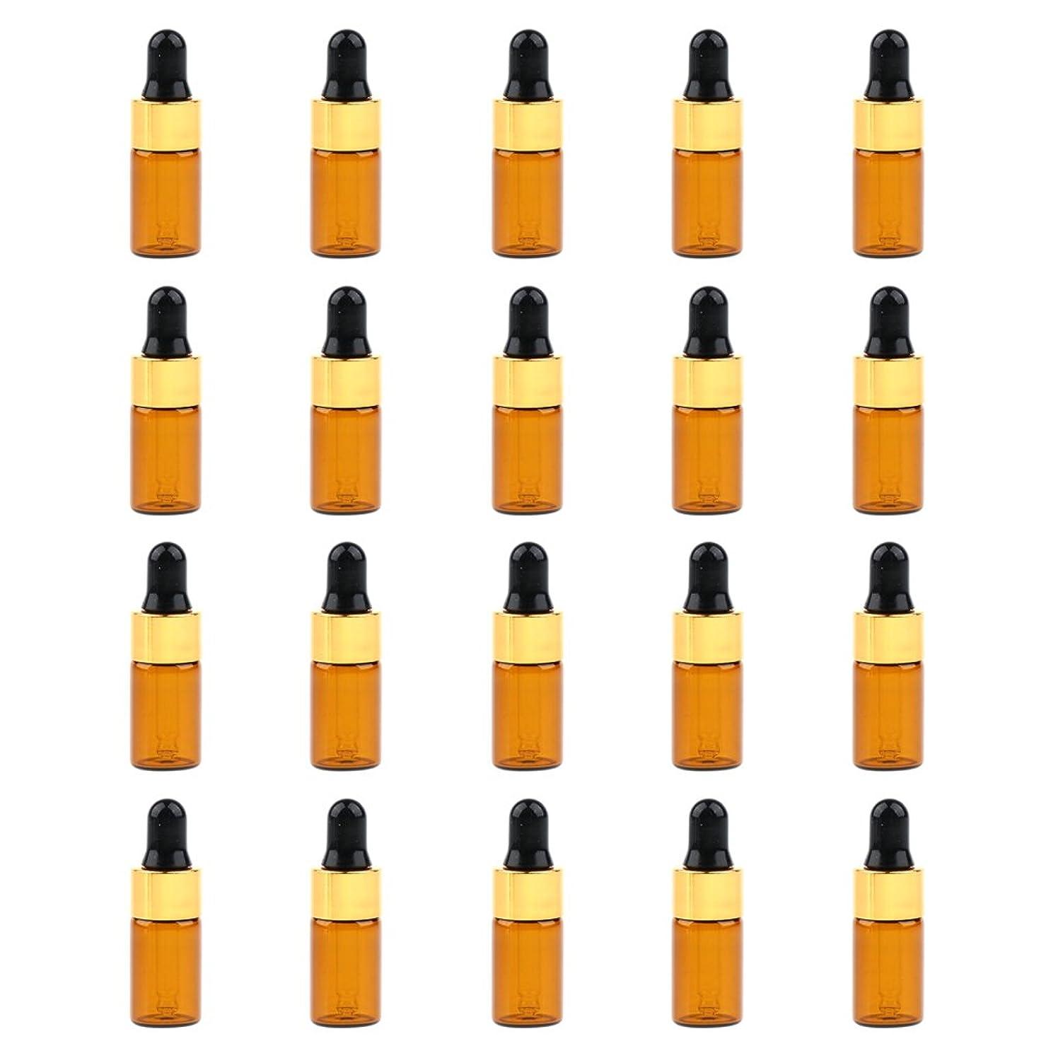 実現可能性否定するアデレードPerfk 約20個 ミニボトル アンバーボトル ガラスボトル 茶色  3サイズ選べ - 3ミリリットル