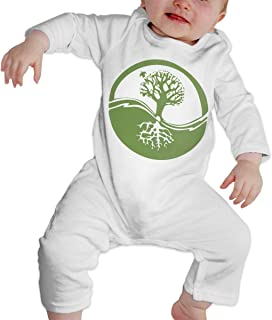 A1BY-5US Newborn Baby Boys Girls Cotton Long Sleeve Bonsai Tree Baby Clothes Funny Printed Romper Clothes