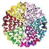 72 Pegatinas de Pared de Mariposa 3D Calcomanías de Pared de Mariposa Extraíbles Pegatina Mural, para la Decoracion del hogar Kids Room Decor del Dormitorio