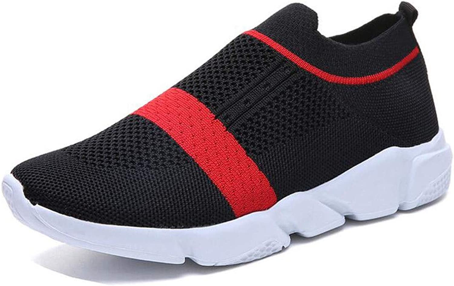 Women's Walking Tennis shoes Lightweight Athletic Casual Gym Slip on Sneakers Walking Casual Knit Workout Sneakers (color   Black, Size   36)