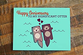 Cute Otter Pun Anniversary Card