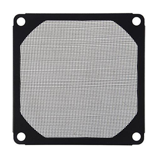 Kaxofang 8cm x 8cm Filtro de Malla a Prueba de Aluminio de Ventilador refrigerador de PC Negro