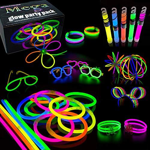 """100 x 8/"""" Glow Sticks Bracelets Colliers Couleurs Fluo Party Favors Rave Disco UK"""