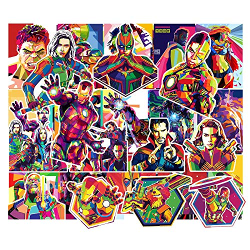 YLGG 51 pieces waterproof graffiti stickers for laptops, skateboards, suitcases, helmets, mobile phones, motorcycles, etc