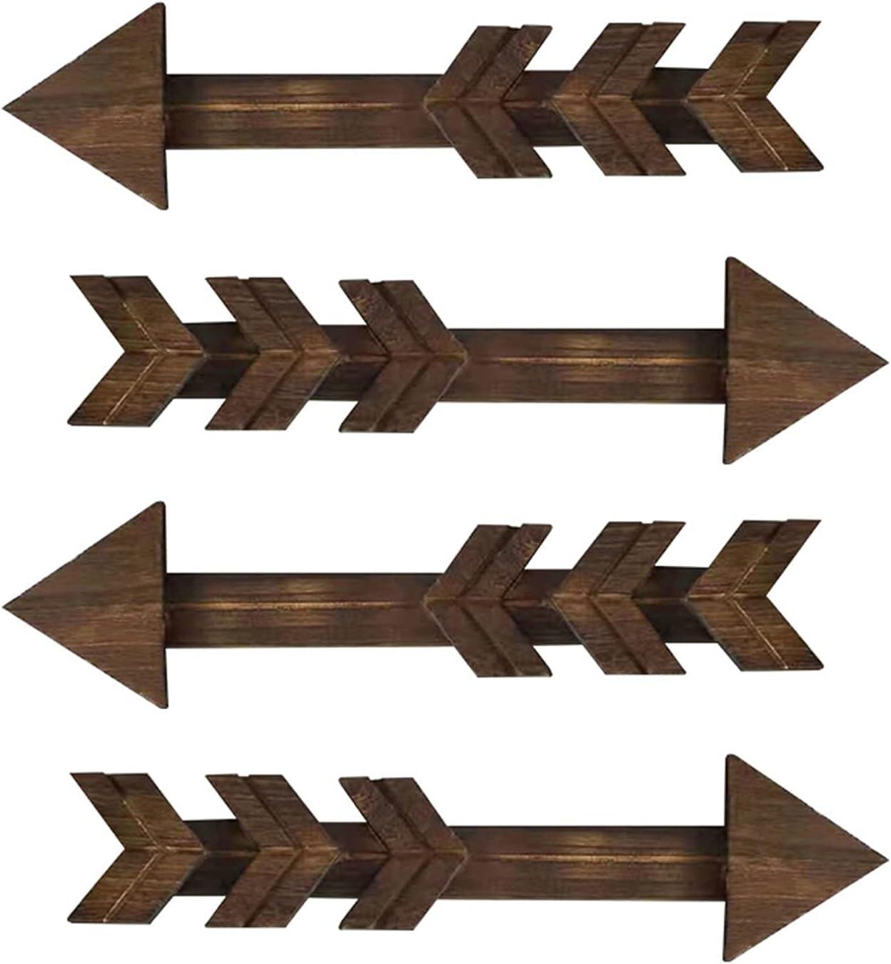 Fees free!! LLC- SUDA Modern Metal Wall Wooden Arrow Ranking TOP8 Decor 4pcs