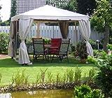 LECO Ersatzdach aus hochwertigem Polyester für den Pavillon Sahara in Naturton, 3 x 3 Meter, Garten Zubehör, Pavillondach, wetterfest, wasserabweisend imprägniert, natürliches zeitloses...