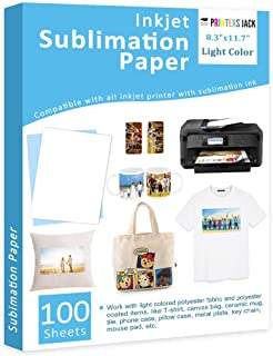 """Sublimation Paper Heat Transfer Paper 100 Sheets 8.3"""" x 11.7"""" for Any Epson HP Canon Sawgrass Inkjet Printer with Sublimat..."""