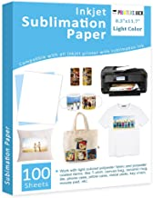 "Sublimation Paper Heat Transfer Paper 100 Sheets 8.3"" x 11.7"" for Any Epson HP.."