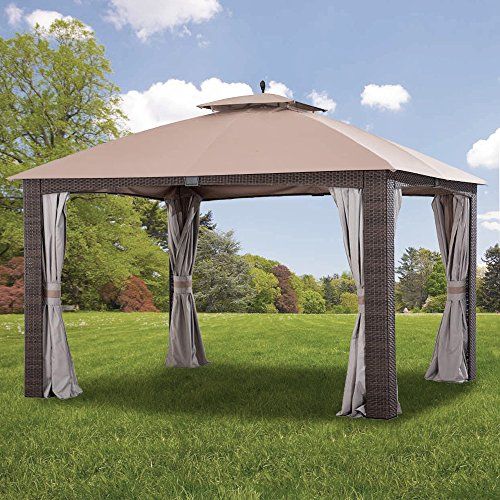 Garden Winds Replacement Canopy for The Augusta Gazebo - Riplock 350 - Beige