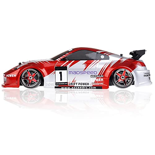 1/10 Scale Exceed RC MadSpeed Electric Powered Drift Car 350 Style Fire Red