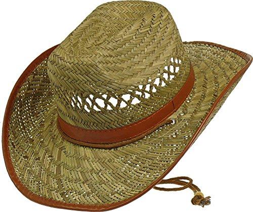 Fiebig Grand chapeau Texas avec mentonnière. - Beige - M